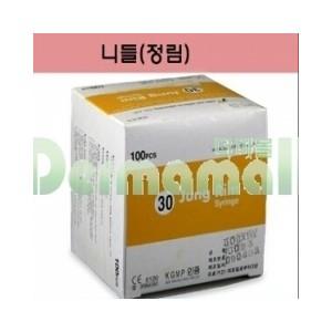 [정림]일회용주사침(Disposable Needle) 30G 4cm (1 1/2인치)